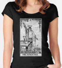 The Magician Tarot Card - Major Arcana - fortune telling - occult Women's Fitted Scoop T-Shirt