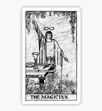 The Magician Tarot Card - Major Arcana - fortune telling - occult Sticker