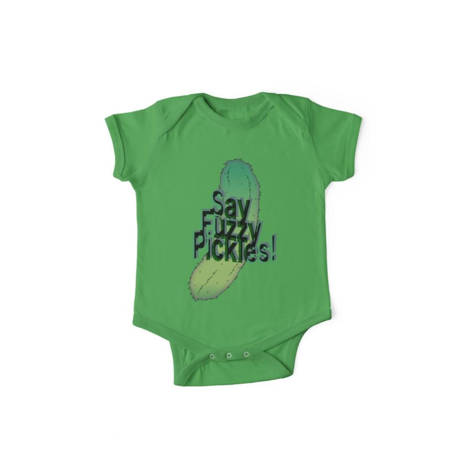 Say Fuzzy Pickles by Studio Momo ╰༼ ಠ益ಠ ༽