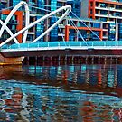 Seafarers Bridge Reflected Melbourne Australia by PhotoJoJo