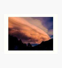 Flight of The Sunset Clouds Art Print
