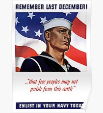 Enlist In Your Navy Today -- World War 2 Poster