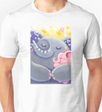 Hug - Rondy the Elphant and his Mom Unisex T-Shirt