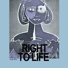 Right to Life, Shades of Gray T-Shirt by Lyn Southworth