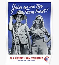 Be A Victory Farm Volunteer -- WWII Poster