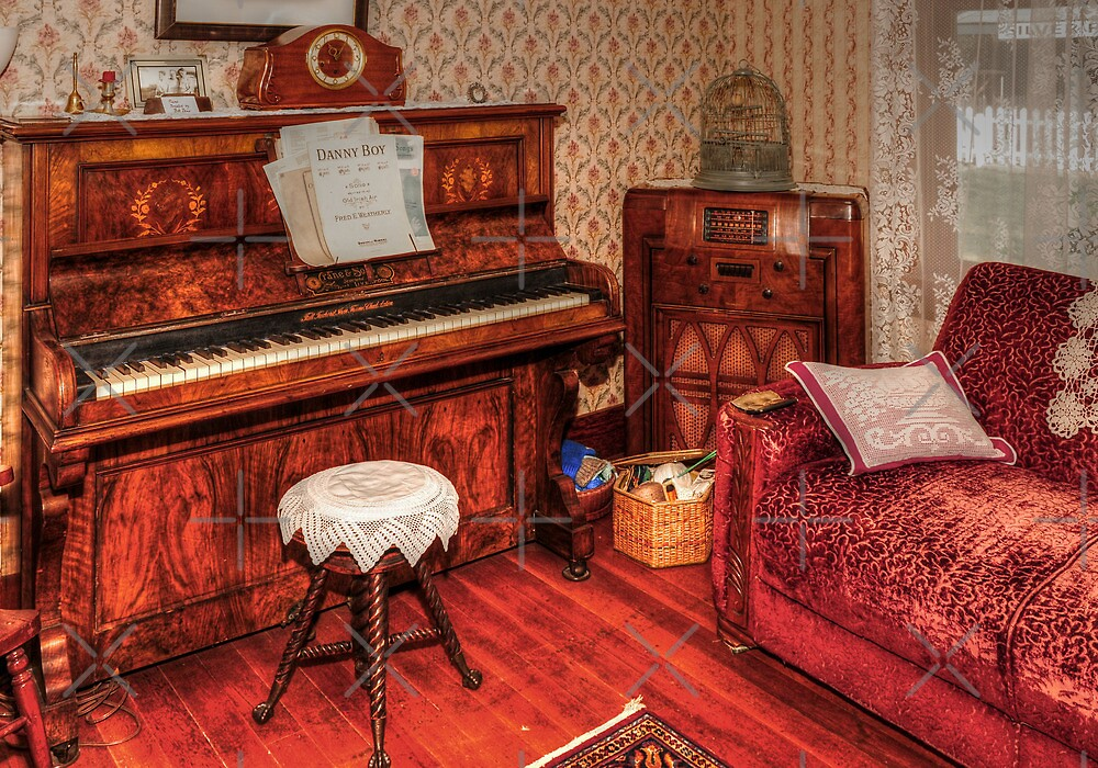 Vintage Piano Room by MaluC