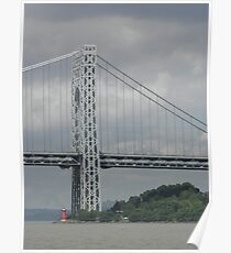 Little red lighthouse and the great gray bridge Poster
