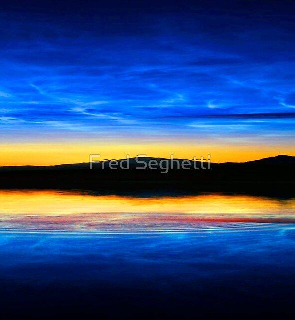 Clouds at Dusk by Fred Seghetti