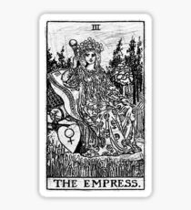 The Empress Tarot Card - Major Arcana - fortune telling - occult Sticker