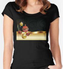 Camiseta entallada de cuello ancho Decorative Christmas Ornaments 4