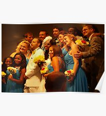 Exuberant wedding party Poster