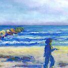 Beach Stroll (pastel) by Niki Hilsabeck