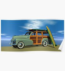 1948 Chevrolet Woody Poster
