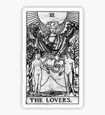 The Lovers Tarot Card - Major Arcana - fortune telling - occult Sticker