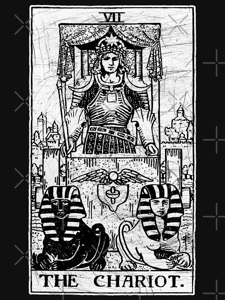Die Wagen Tarot-Karte - Major Arcana - Wahrsagerei - okkult von createdezign
