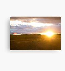 Northumberland Sunset Canvas Print