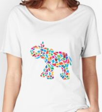 Abstract Elephant Illustration Women's Relaxed Fit T-Shirt