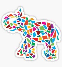 Abstract Elephant Illustration Sticker