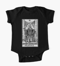 Justice Tarot Card - Major Arcana - Fortune Telling - Occult One Piece - Short Sleeve