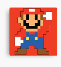 Super Mario Maker - Modern Mario Costume Sprite Canvas Print