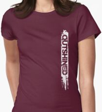 Outshined Grunge Womens Fitted T-Shirt