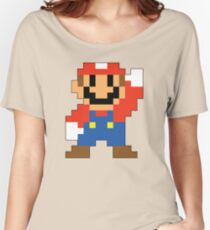 Super Mario Maker - Modern Mario Costume Sprite Women's Relaxed Fit T-Shirt