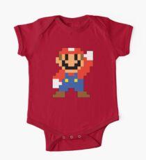 Super Mario Maker - Modern Mario Costume Sprite One Piece - Short Sleeve