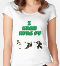 I Know Kung Fu Women's Fitted Scoop T-Shirt