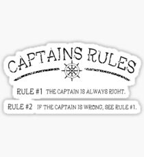 Captains Rules Stroke Sticker