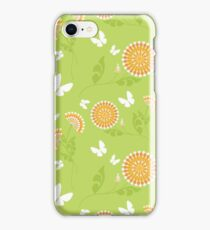 Abstract seamless vector texture with bright flowers iPhone Case/Skin