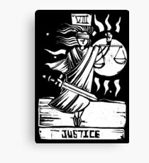 Justice - Tarot Cards - Major Arcana Canvas Print