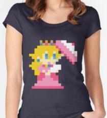 Super Mario Maker - Princess Peach Costume Sprite Women's Fitted Scoop T-Shirt
