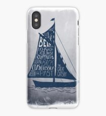 Great Gatsby Boat Quote iPhone Case