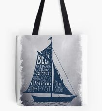 Great Gatsby Boat Quote Tote Bag