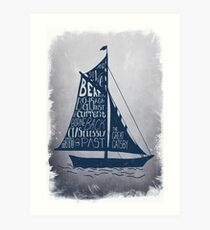 Great Gatsby Boat Quote Art Print