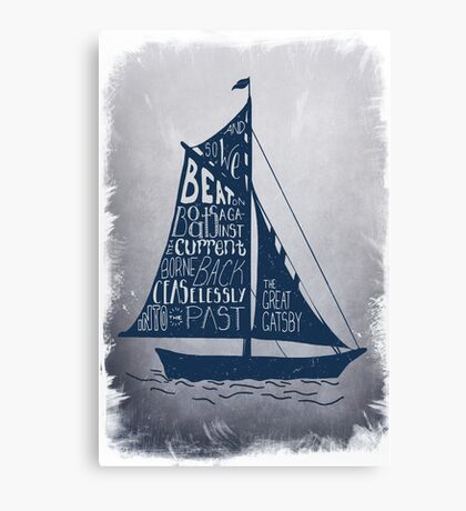 Great Gatsby Boat Quote Canvas Print