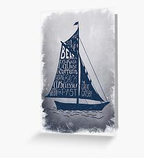 Great Gatsby Boat Quote Greeting Card