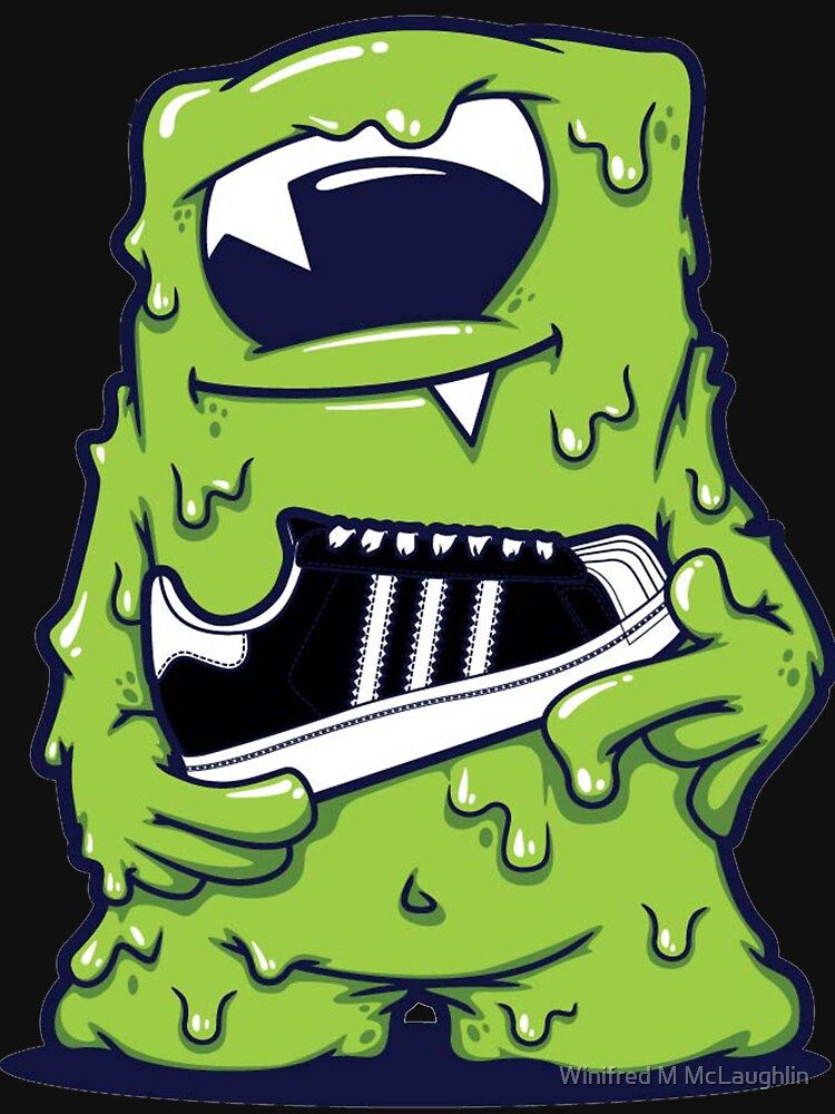 "light green monster shoes art design monster"" t-shirts & hoodies, Reel Combo"