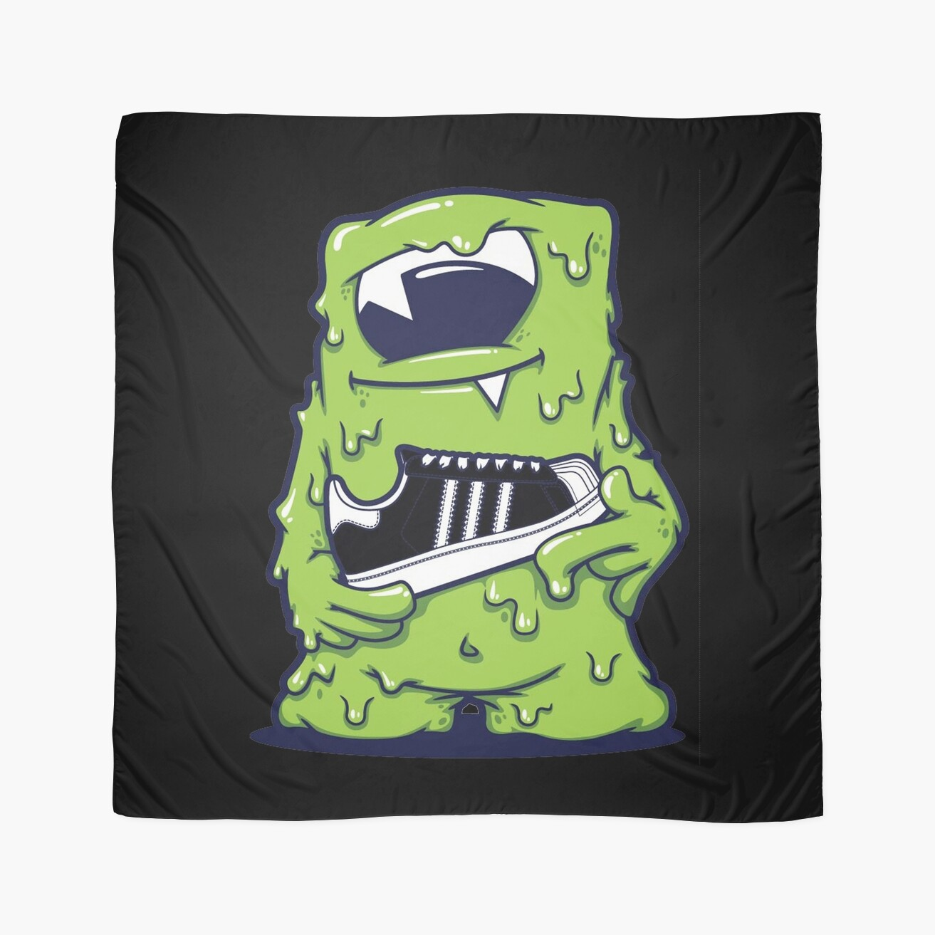 "light green monster shoes art design monster"" scarves by winifred, Reel Combo"
