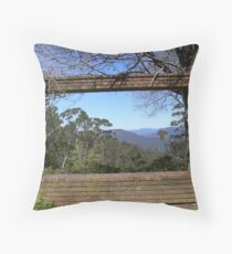 Framing the Blue Mtns Throw Pillow