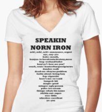 Speakin speaking Norn Iron Northern Ireland Women's Fitted V-Neck T-Shirt