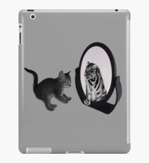 ♥•.¸¸MIRROR OF TRUTH WHAT DO I SEE?..I SEE THE REAL TIGER IN ME ~IPAD CASE♥•.¸¸ LOL iPad Case/Skin