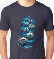 Music Engineer - Music Notes & Gears (blue) T-Shirt