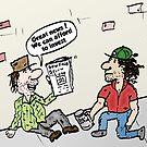 Homeless investors editorial market cartoon by Binary-Options
