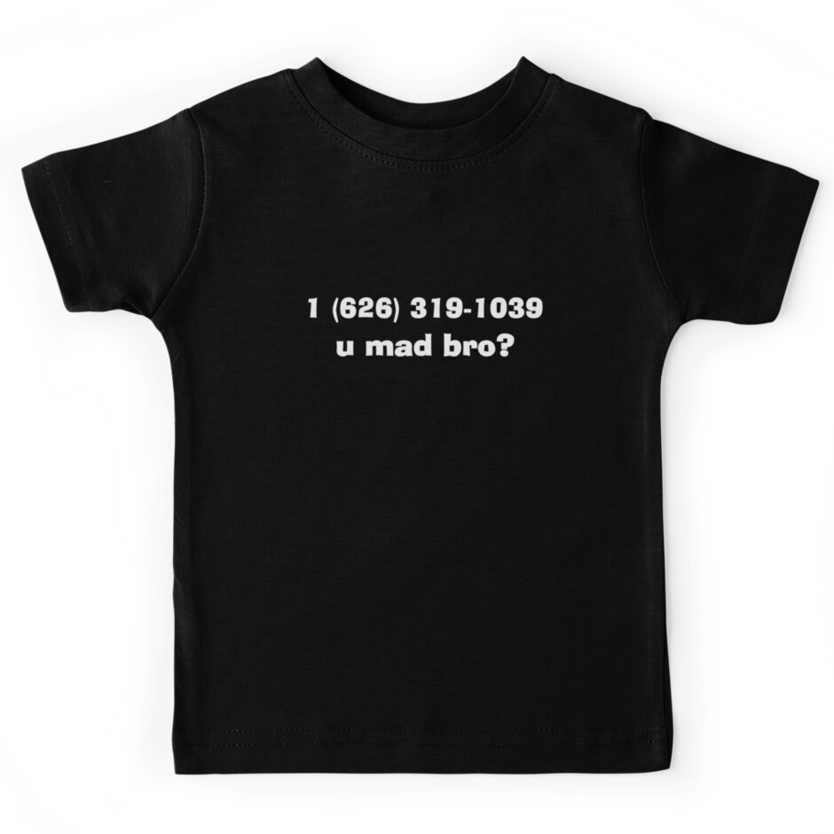 quotdeadmau5 skrillex phone numberquot kids tees by zombiewest