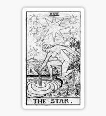 The Star Tarot Card - Major Arcana - fortune telling - occult Sticker