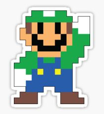 Super Mario Maker - Luigi Costume Sprite Sticker