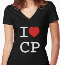 I Heart CP Women's Fitted V-Neck T-Shirt