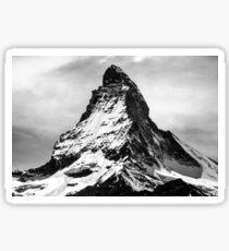 Iconic Alpine Mountain Matterhorn in Black and White Sticker