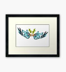 BluE WiNTER sNOW bIRDs (PEACE ON EARTH) Framed Print